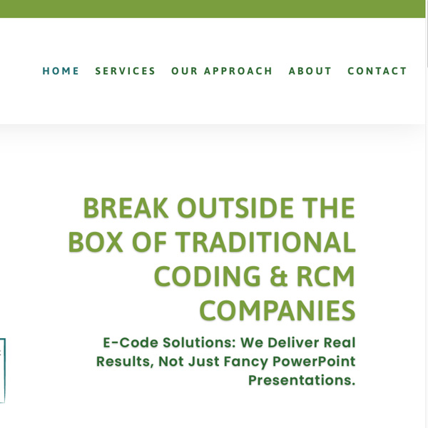 E-Code Solutions Redesign
