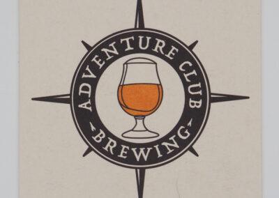 Adventure Club Brewing Logo & Coaster Design