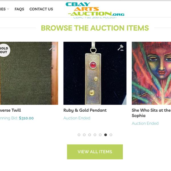 Chequamegon Bay Arts Council Auction Site Design