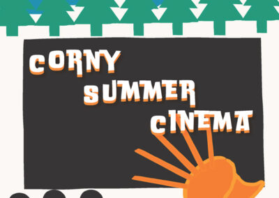 Corny Summer Cinema Poster Design