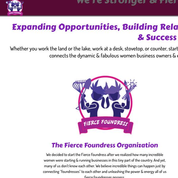 Fierce Foundress Web Design