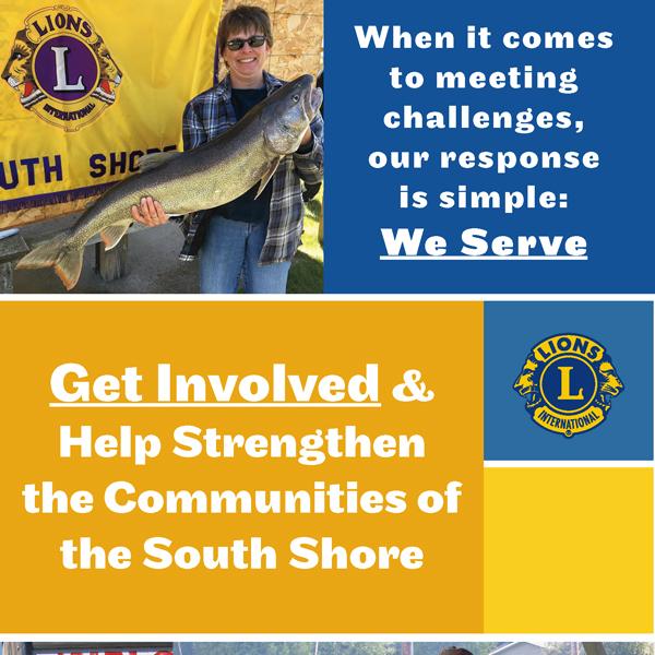 South Shore Lion's Club Rack Card Design