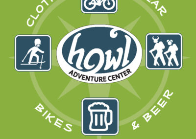 Howl Adventure Center Rack Card Design